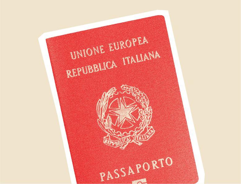 passaporte ilustrando curso de italiano para quem quer fazer o preparatório para dupla cidadania italiana