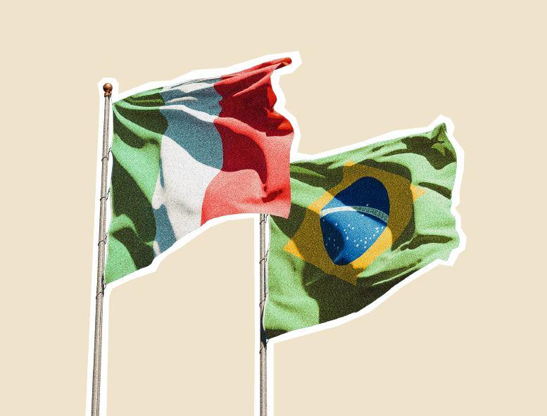 bandeira do Brasil e Itália representando serviço de tradução de italiano para português